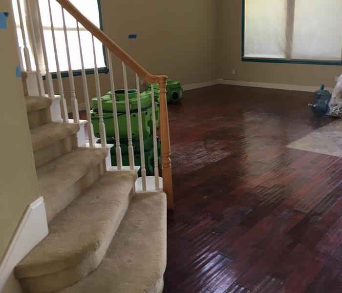 Residential Water Damage - Stanford Before