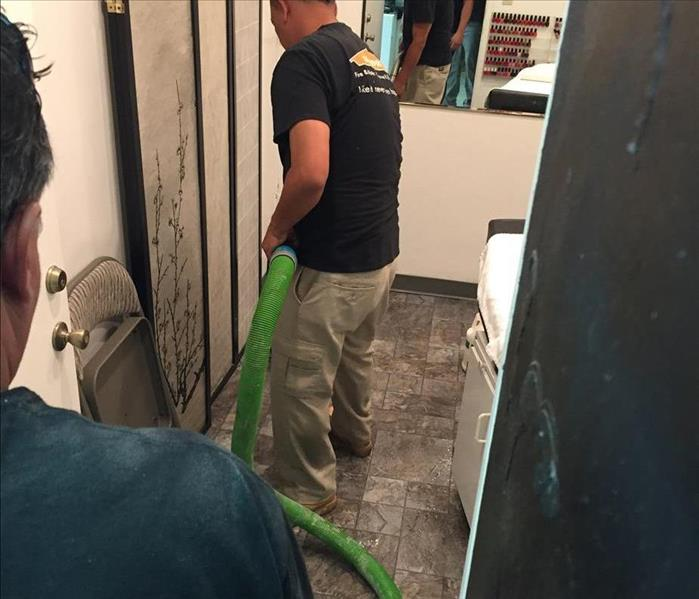 Water Damage to a Local Hair & Nails Salon