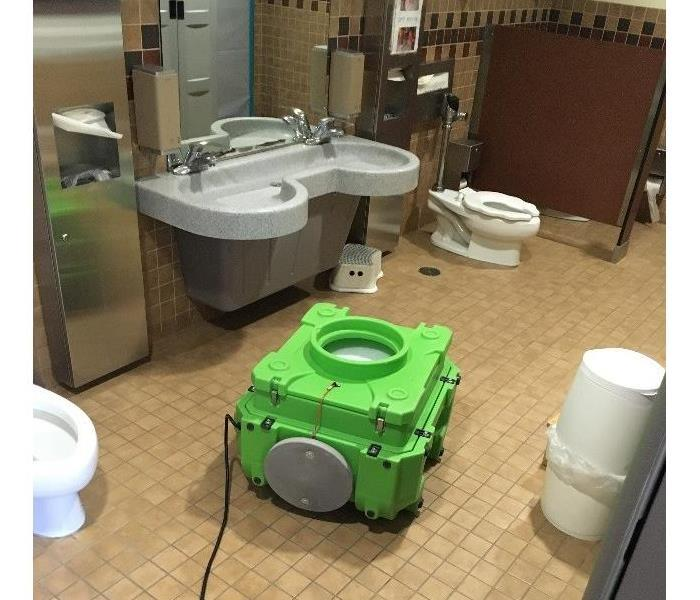 Public Restroom Sewer Backup